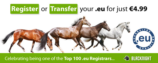 save on .eu domain name registration and transfers