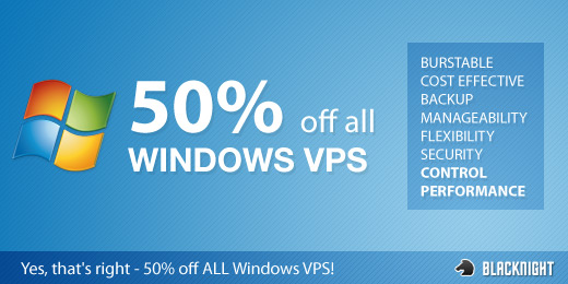 Save on Windows 2003 VPS Servers