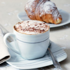 coffee (capuccino) and croissant