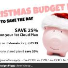 Christmas budget piggy