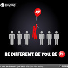 Be Different, Be You, Be Me - Promotional image for .me domain names