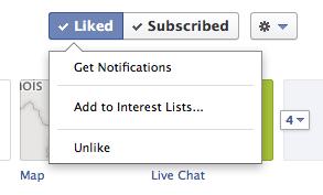 Facebook notifications options