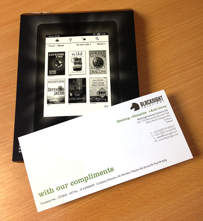 Kindle Paperwhite with our compliments