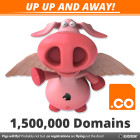 .co breaks 1.5 million domain names registered proving pigs might fly