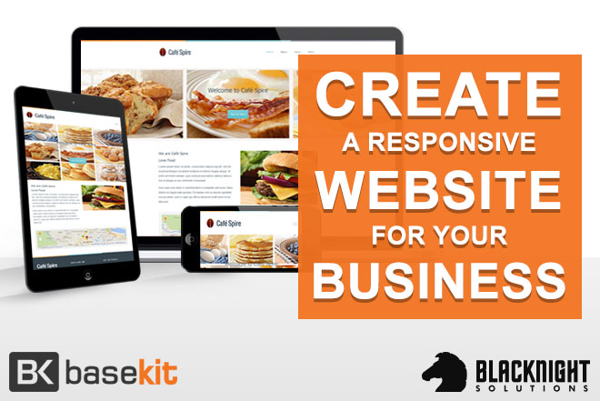 Create a responsive website easily with our sitebuilder