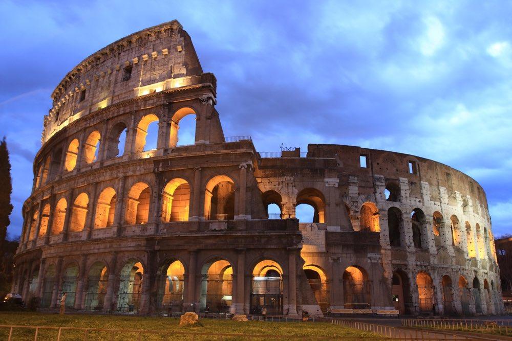 Colosseum at twilight