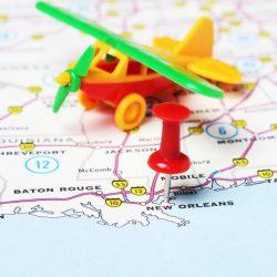 New Orleans  Usa Map Flight