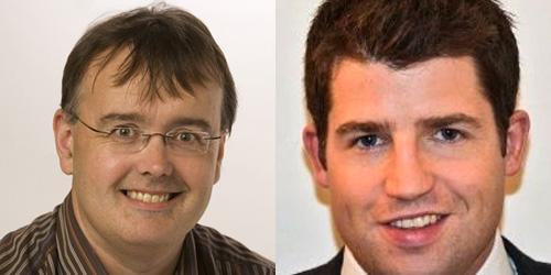 Conn Ó Muíneacháin, Blacknight; and Jonathan Eustace, SMB Cloud Lead, Microsoft Ireland