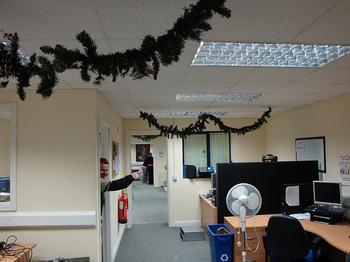 blacknight offices decorated