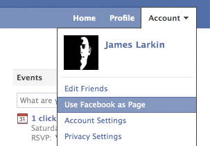 Using Facebook as a Page or as yourself