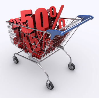 discounts - shopping cart - save money