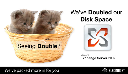 Hosted Exchange - Double Disk Space