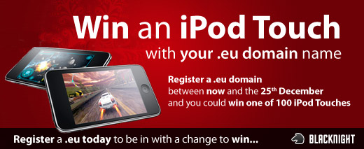 Win an iPod Touch with Blacknight and .eu