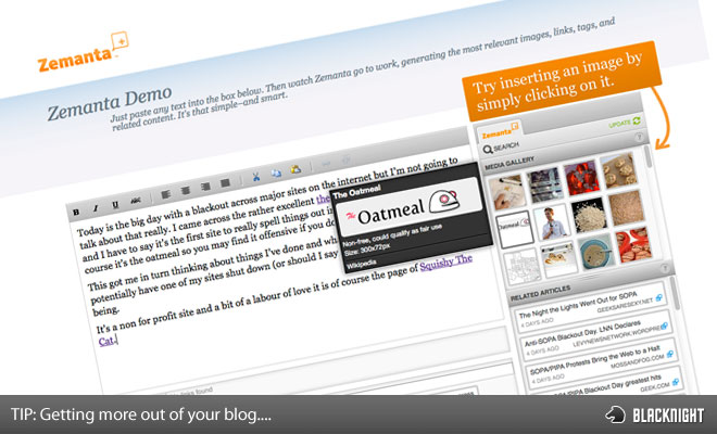 Getting More Out of blogging with zemanta