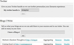 Zemanta personalisation