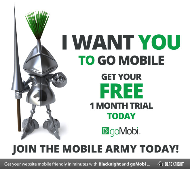 Get a 30 day trial of GoMobi