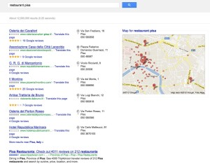 "search for ""restaurants pisa"""