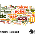 new tld application window is now closed - cloud of possible domain extensions