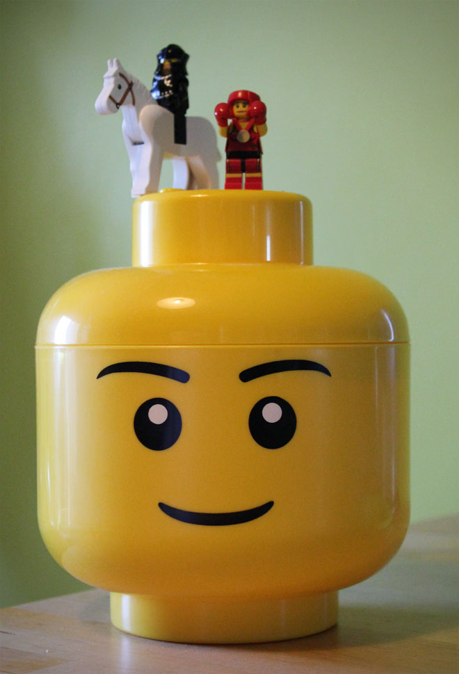 Feeling on top of the ... erm ...Lego Head