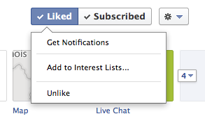 Facebook notifications options