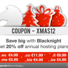 Christmas discount offers on hosting & domains