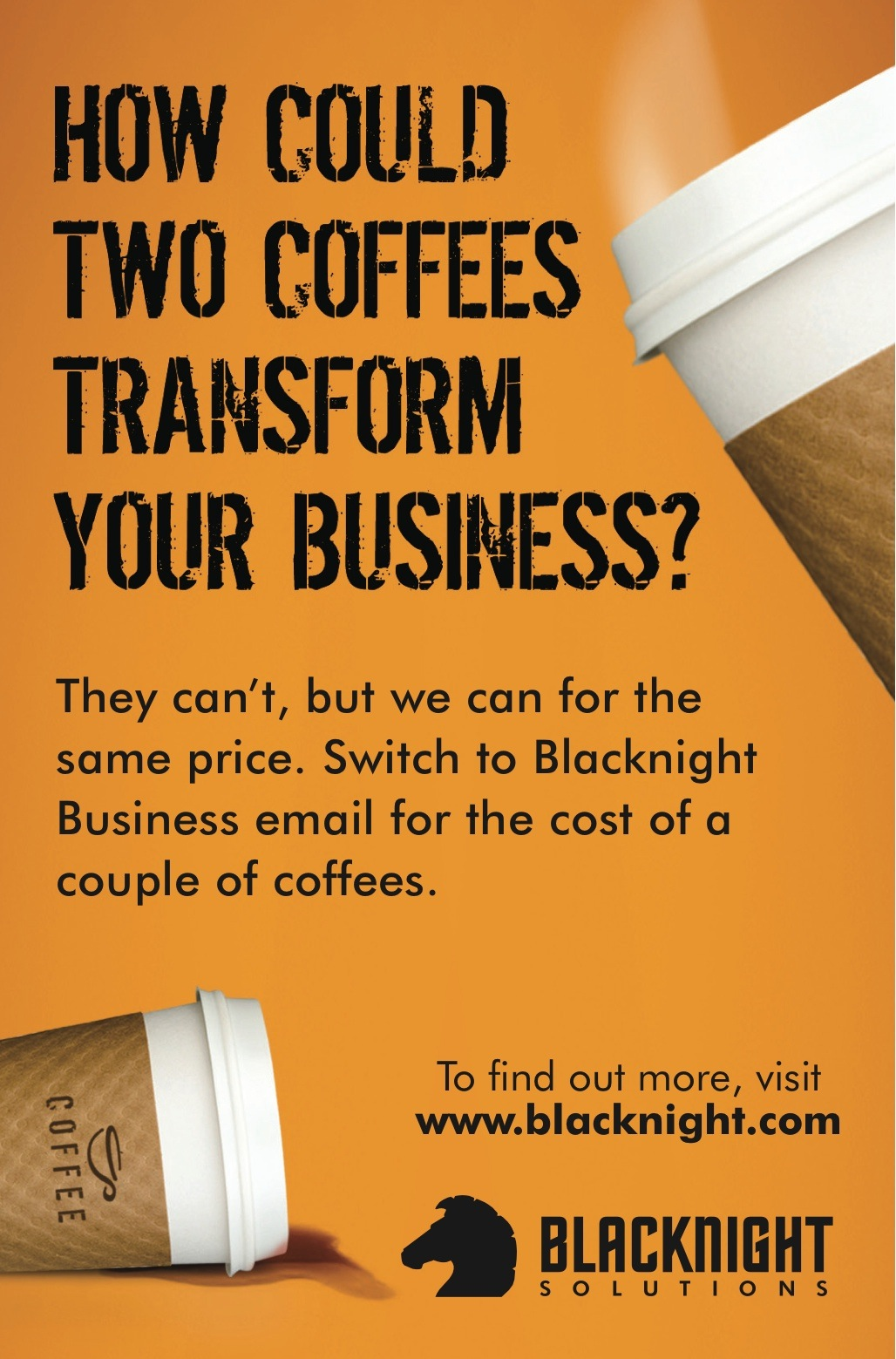 coffee and email our current print advertising campaign