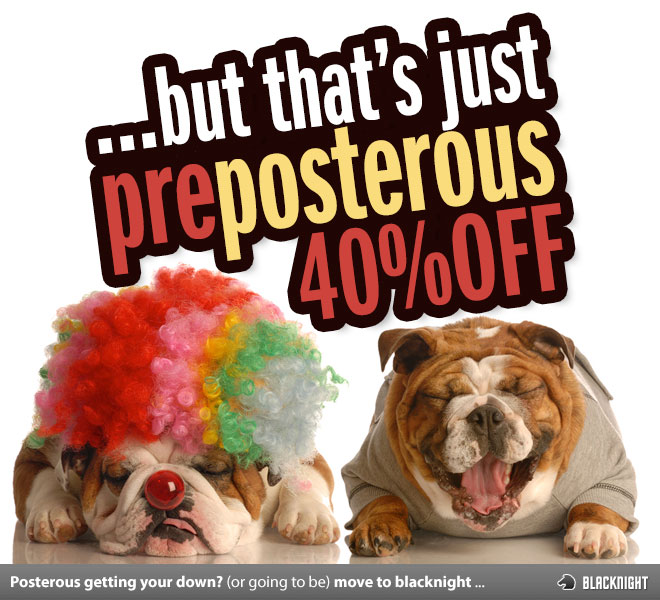 The PrePosterous 40% Off Graphic