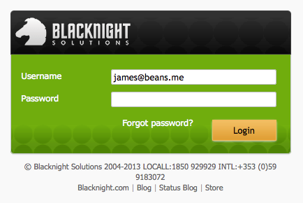 Login to the Control Panel with your email account.