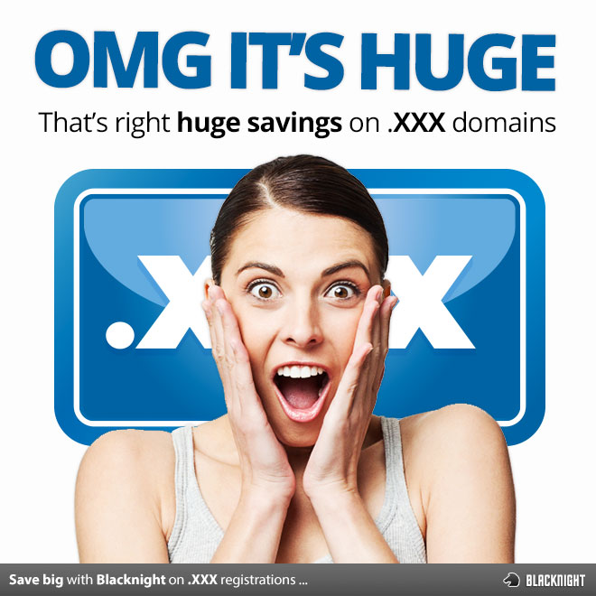 Save big on .xxx domain name registrations in the month of May