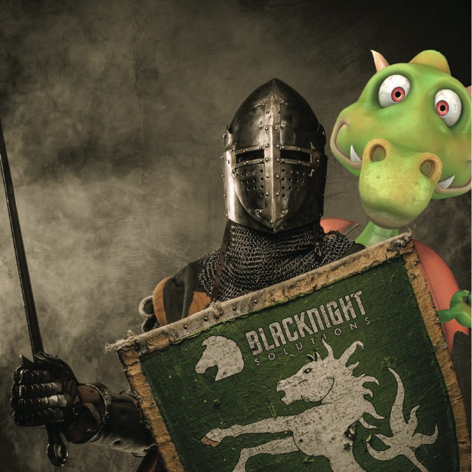 cloud hosting ad copy using dragon and knight