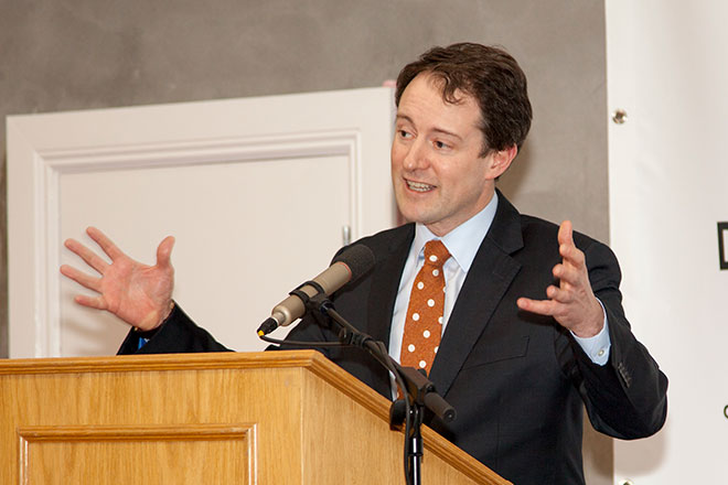 Minister Sherlock at the Blacknight DC launch