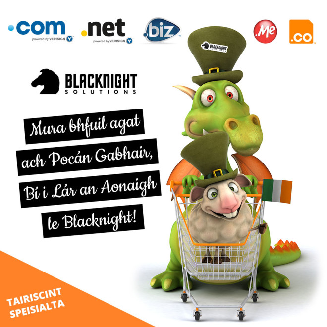 Blacknight celebrates Seachtain na Gaeilge