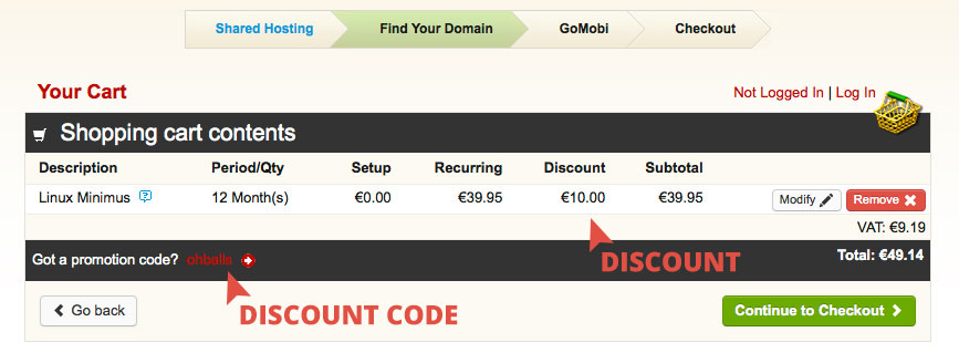 OhBalls Discount Code Applied