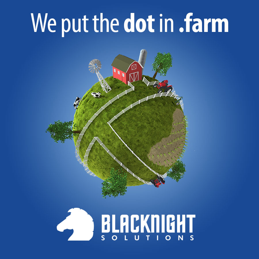 Putting the dot in .farm - image of world with farm related images