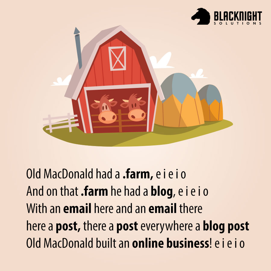 ".farm tld image - ""Old MacDonald"""