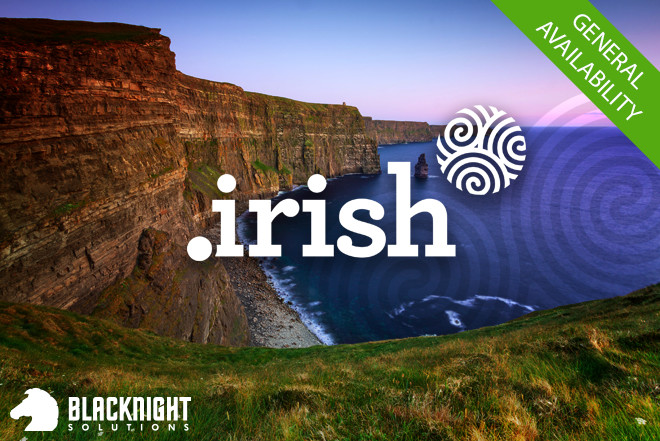 Dot-Irish, the new domain for everyone who's Irish - or wants to be - enters General Availability today.