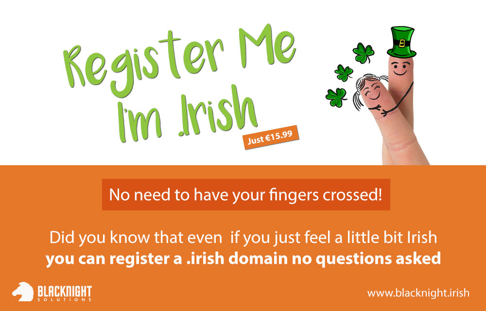 Register Me Im .Irish Domain Promotion