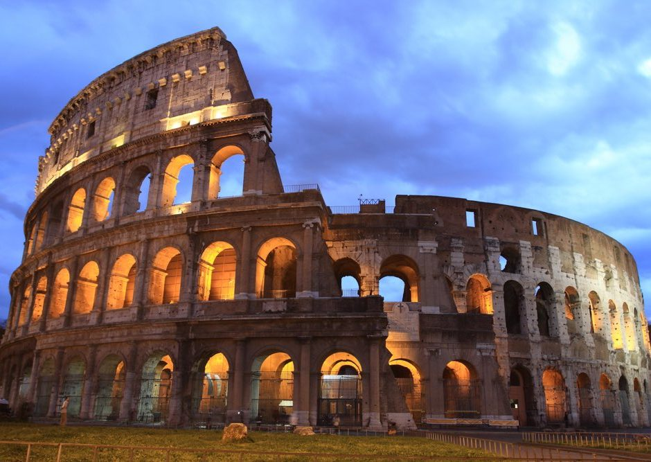 Colosseum at twilight