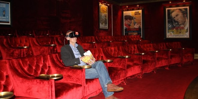 The Quiet Man - Congregation founder Eoin Kennedy enjoys a VR moment in the Ashford Castle cinema.