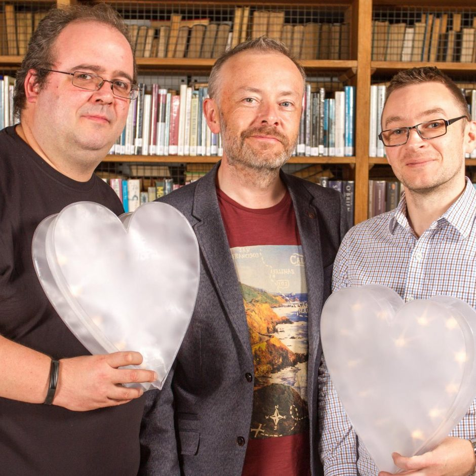 Left to right Michele Neylon (Blacknight), Damien Mulley & Rick O'Shea launching the Blacknight SME Awards