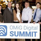 Pictured at the launch of the OMiG Digital Summit (Left to Right) Kenneth Kelly, Galway Advertiser, Audrey Elliott, Ireland West Airport Knock, Kevin Moran, IMS Marketing, Stephanie Morrin, Galway Advertiser, Conn Ó Muíneacháin, Blacknight, David Glynn, Radisson Blue Hotel & Spa, Galway and Maricka Burke-Keogh, Founder, OMiG and Head of Digital Marketing Altocloud. Picture: Julia Dunin Photography