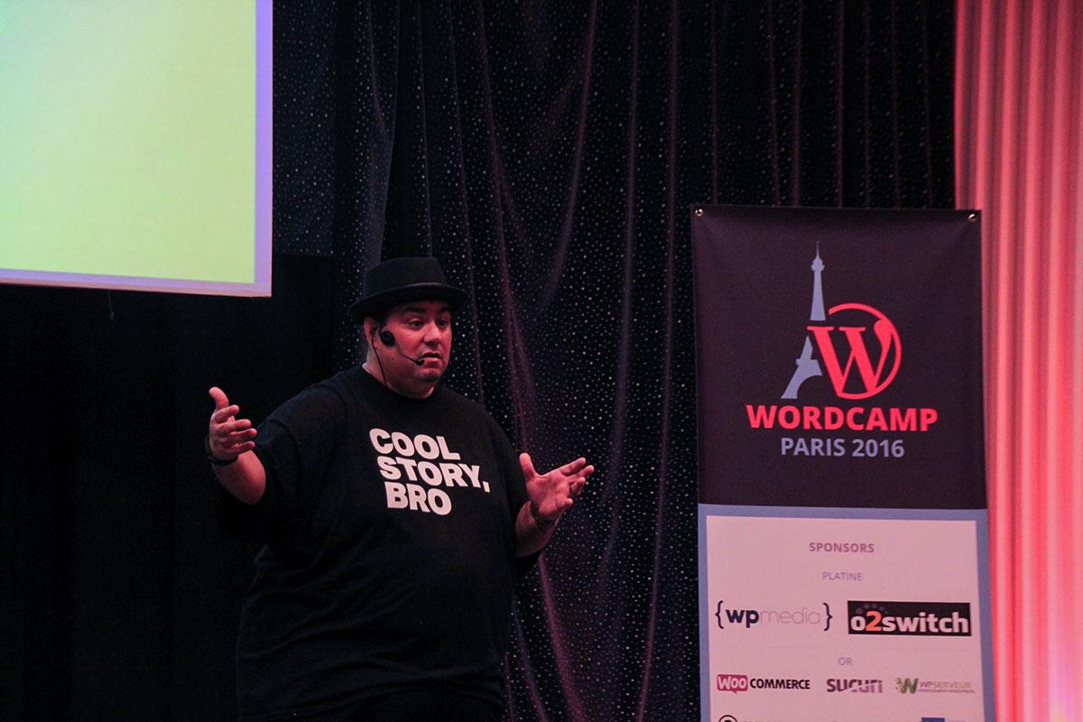 Chris Lema talking about accelerating sales at WCParis