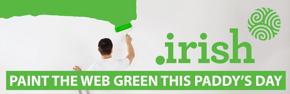 Paint the web green with dot irish