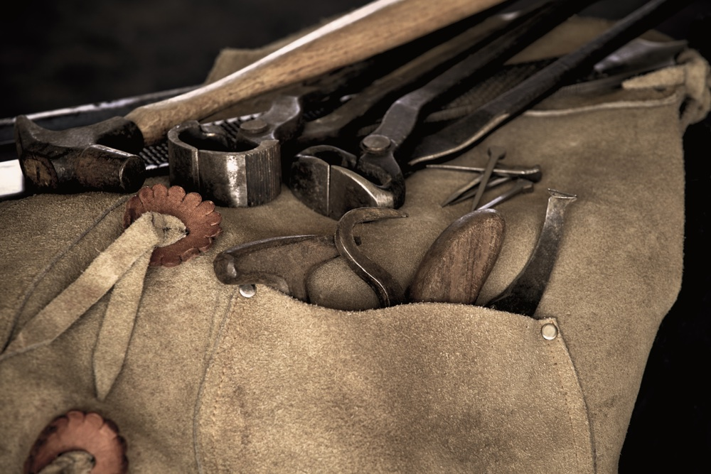 Farrier Tools With Shallow Depth Of Field