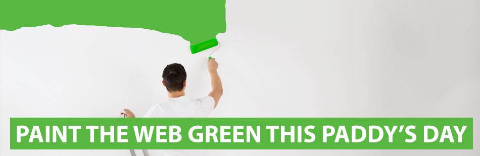 Paint the web green this Paddy's Day