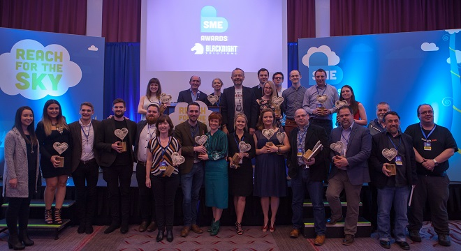 Winners of the Blacknight SME Awards 2016. Photo Credit: Ryan Whalley.