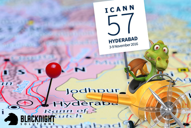 We are attending the ICANN 57 meeting in India
