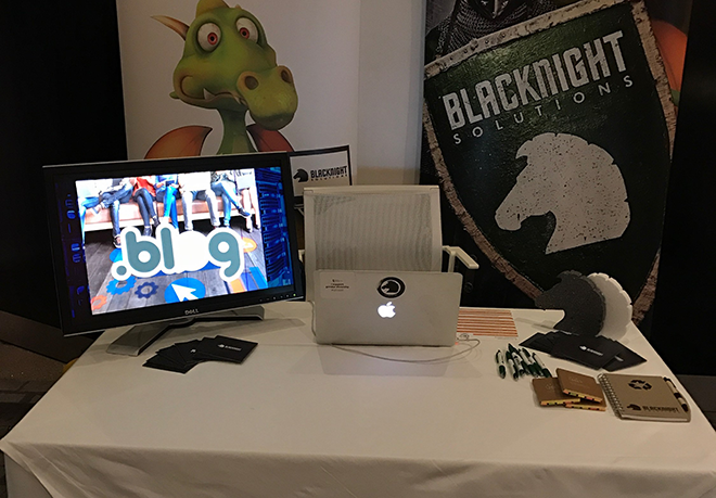 The Blacknight Stand at Bloggerconf in October 2016.
