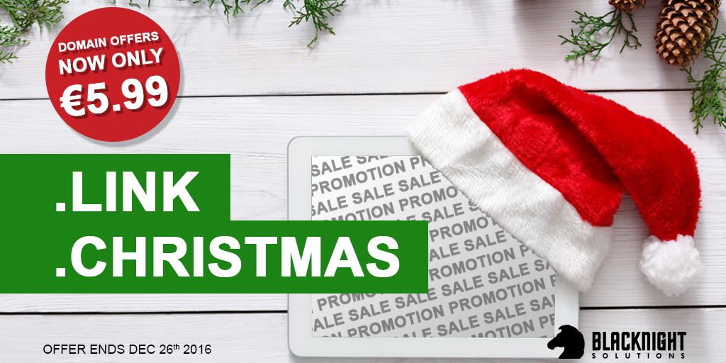 Blacknight dot-Christmas and dot-Link Promotion