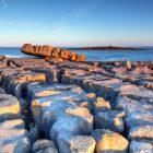 Atlantic ocean sunrise in Burren, Ireland